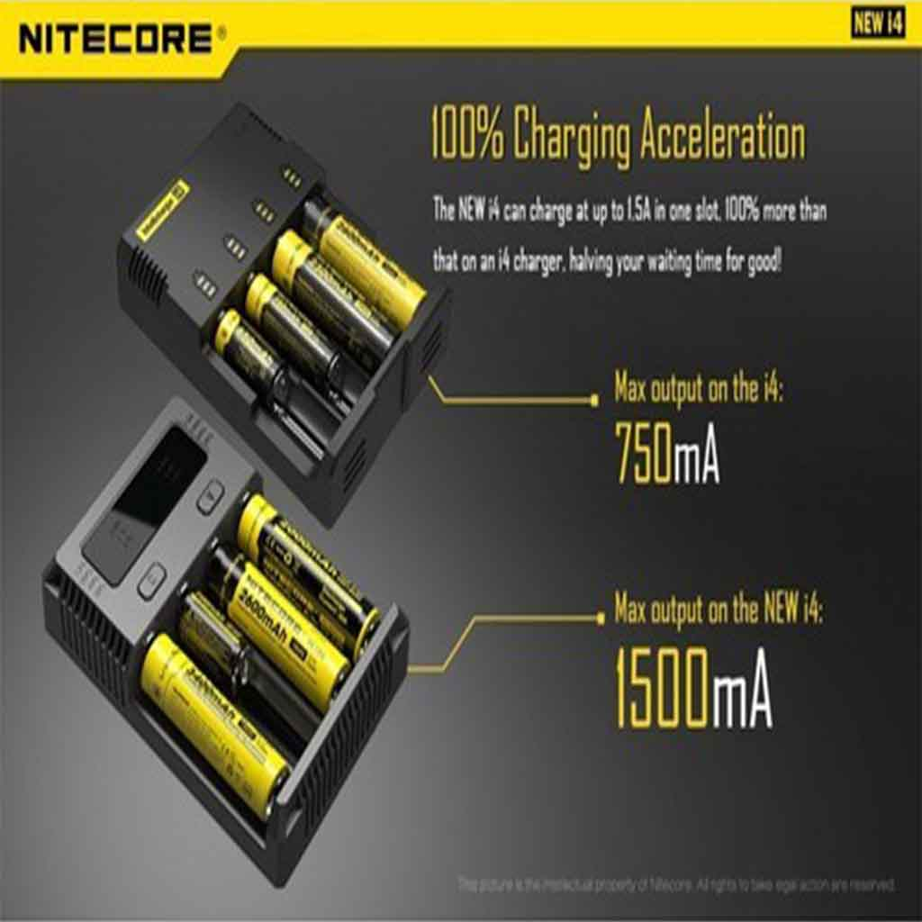 Nitecore New i4 charger from Nitecore improves upon the original model with six new features: